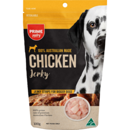 Photo of Prime Pantry Jerky Chicken Strips For Bigger Dogs 100% Australian Made 100g