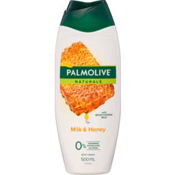 Photo of Palmolive Naturals Milk & Honey Body Wash With Moisturising Milk 0% Parabens Recyclable 500ml