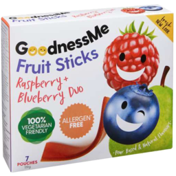 Photo of Goodness Me Fruit Sticks Raspberry & Blueberry 119gm