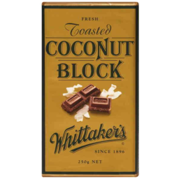 Photo of Whittakers Toasted Coconut Block 250gm