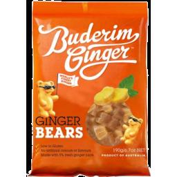 Photo of Buderim Ginger Bears #190g