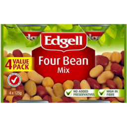 Photo of Edgell Four Bean Mix Value Pack 4 X 125gm