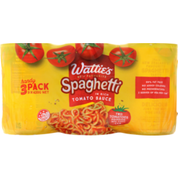 Photo of Wattie's Canned Spaghetti In Tomato Sauce 3 Pack