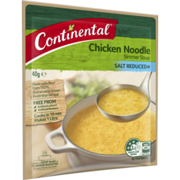 Photo of Continental Chicken Noodle Salt Reduced Simmer Soup 40g