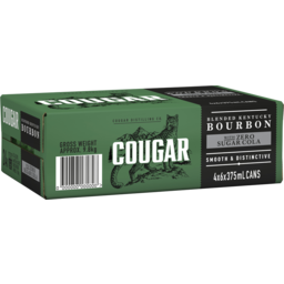 Photo of Cougar Bourbon & Cola Zero Can 375ml 24 Pack
