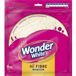 Photo of Wonder Wraps Hi Fiber Plus 6pk 312g