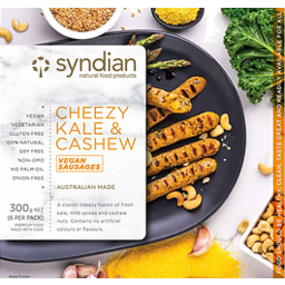 Photo of Syndian Cheezy Kale & Cashew Sausages