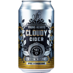 Photo of Young Henrys Cloudy Apple Cider Can 375ml