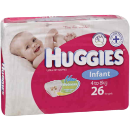 Photo of Huggies Infant Girl 26 Pack