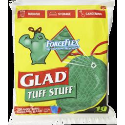 Photo of Glad Tuff Stuff 10 Extra Wide Drawstring Garbage Bags