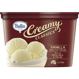 Photo of Bulla Premium Creamy Classics Vanilla 2L