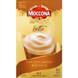 Photo of Moccona Coffee Mixes Latte 10pk - 148g