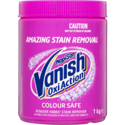 Photo of Vanish Napisan Oxi Action Colour Safe Powder Fabric Stain Remover 1kg