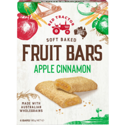 Photo of Red Tractor Soft Baked Apple Cinnamon Fruit Bars 6 Pack 180g