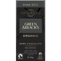 Photo of Green & Black's Organic Dark Chocolate 85% 90g