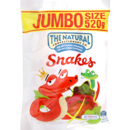 Photo of The Natural Confectionery Co. Snakes Lollies 520g