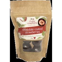 Photo of Rhuby Creations Chocolate Coated Strawberries 80gm
