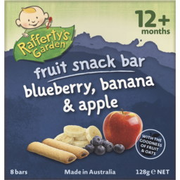 Photo of RAFFERTY'S BLUEBERRY ,BANANA & APPLE FRUIT BAR 128G