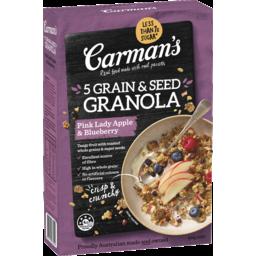 Photo of Carman's Pink Lady Apple & Blueberry 5 Grain & Seed Granola 450g