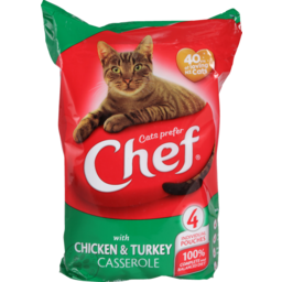 Photo of Chef Cat Food Pouch Chicken & Turkey 4 Pack