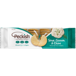 Photo of Peckish Thin Rice Crackers Sour Cream & Chive 100g