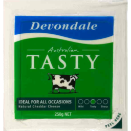 Photo of Devondale Tasty Block Cheese 250gm