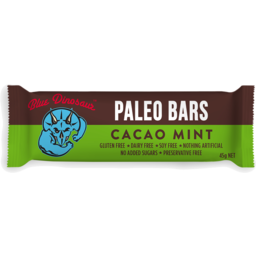 Photo of Blue Dinosaur Paleo Bars Cacao Mint 45g