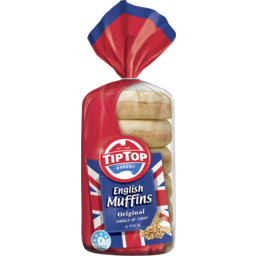Photo of Tip Top English Muffins Original 6pk 400g