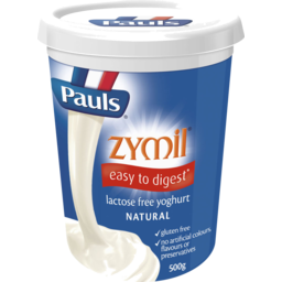 Photo of Pauls Zymil Lactose Free Yoghurt Natural 500gm