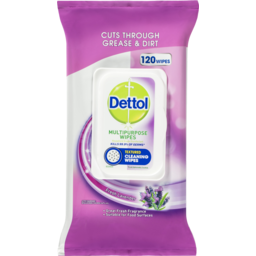Photo of Dettol Multipurpose Antibacterial Disinfectant Surface Cleaning Wipes Lavender 120pk