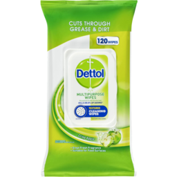 Photo of Dettol Multipurpose Wipes Crisp Apple 120 Pack