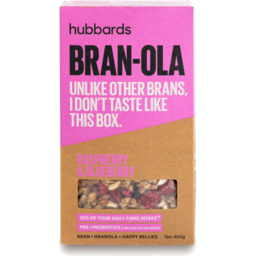 Photo of Hubbards Bran-Ola Raspberry & Blueberry 400g