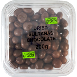 Photo of The Market Grocer Dried Sultanas Chocolate 200gm