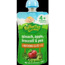 Photo of Raffertys Garden Spinach & Apple & Broccoli & Pea 120g