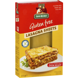 Photo of San Remo Gluten Free Lasagna 200g