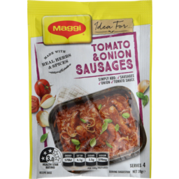 Photo of Maggi Tomato Onion Sausage Recipe Base 39gm