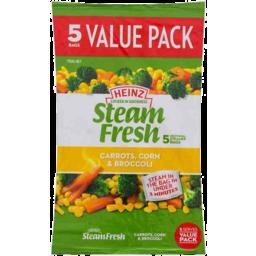 Photo of Heinz Steamfresh 5 Pack Carrot Corn Broccoli 750gm
