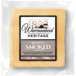 Photo of Warnambool Heritage Lightly Smoked Club Cheddar 200gm