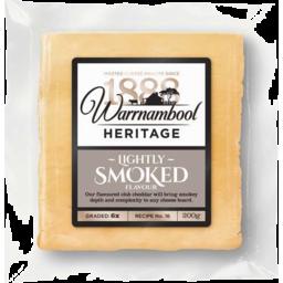 Photo of Warnambool Heritage Lightly Smoked Club Cheddar 200gm