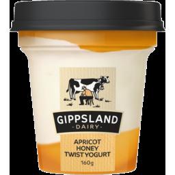 Photo of Gippsland Dairy Apricot Honey Twist Yogurt 160g