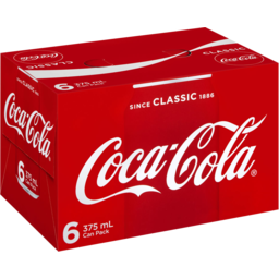 Photo of Coca Cola Can 6pk 375ml