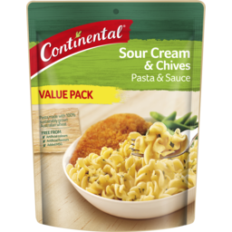 Photo of Continental Pasta & Sauce Value Pack Sour Cream & Chives 145gm