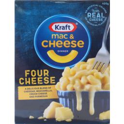 Photo of Kraft Mac & Cheese Dinner Four Cheese 400gm