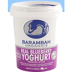 Photo of Barambah Real Blueberry Organic Yoghurt 500gm