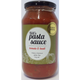 Photo of Bill's Pasta Sauce Tomato & Basil 500ml