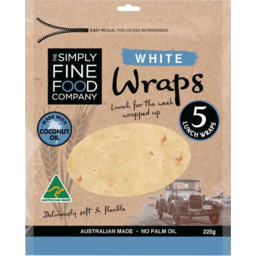 Photo of The Simply Fine Food Company White Wraps 225gm