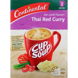 Photo of Continental Cup A Soup Asian Thai Red Curry 2pk 60gm