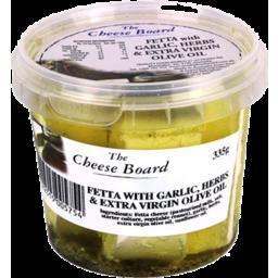 Photo of Cheese Board Fetta Garlic & Herbs 335g