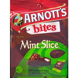 Photo of Arnott's Bites Mint Slice Twins 20 Pack 170g