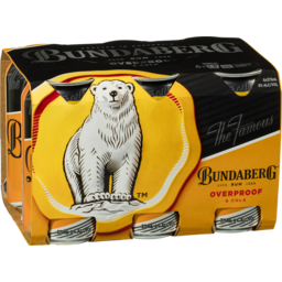 Photo of Bundaberg Over Proof & Cola Can 375ml 6 pack